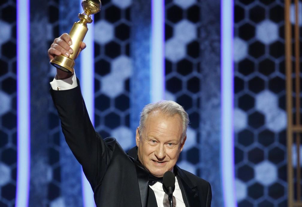"""Stellan Skarsgård vence o Globo de Ouro de melhor ator de série pela atuação em """"Chernobyl""""  — Foto: Paul Drinkwater/NBC via AP"""