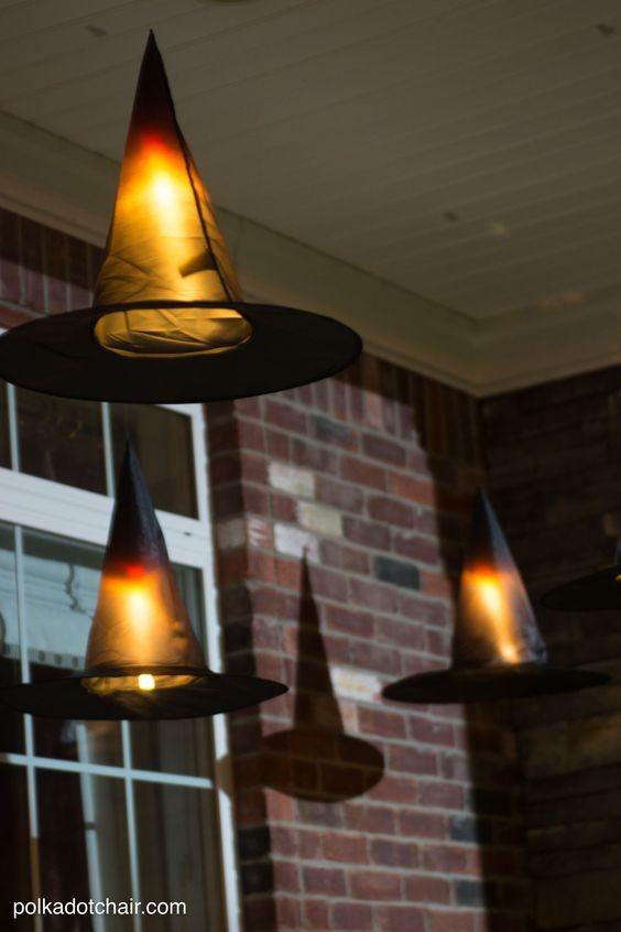 Chapéu de bruxa na iluminação  (Foto: Pinterest )