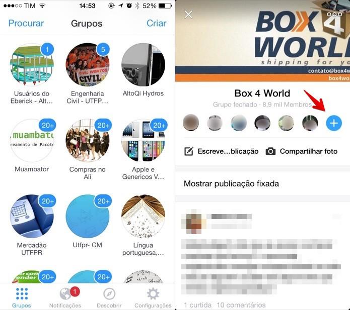 Adicionando amigos a um grupo no Facebook Groups (Foto: Reprodução/Helito Bijora)