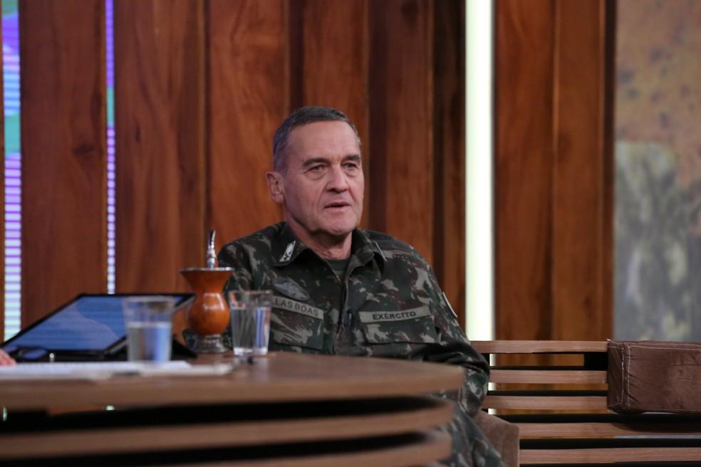 General falou da carreira (Foto: TV Globo)