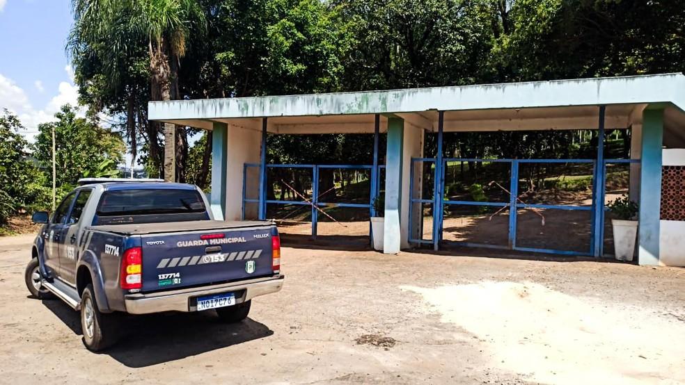 Parques foram fechados em Chapecó — Foto: Guarda Municipal de Chapecó/ Divulgação