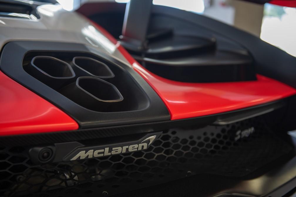 McLaren Senna tem três saídas de escape — Foto: Divulgação/Maikon Bauer