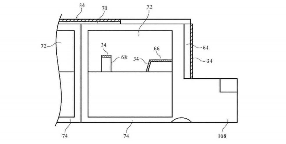Projeto fotovoltaico do Apple Car  — Foto: Reprodução/AppleInsider