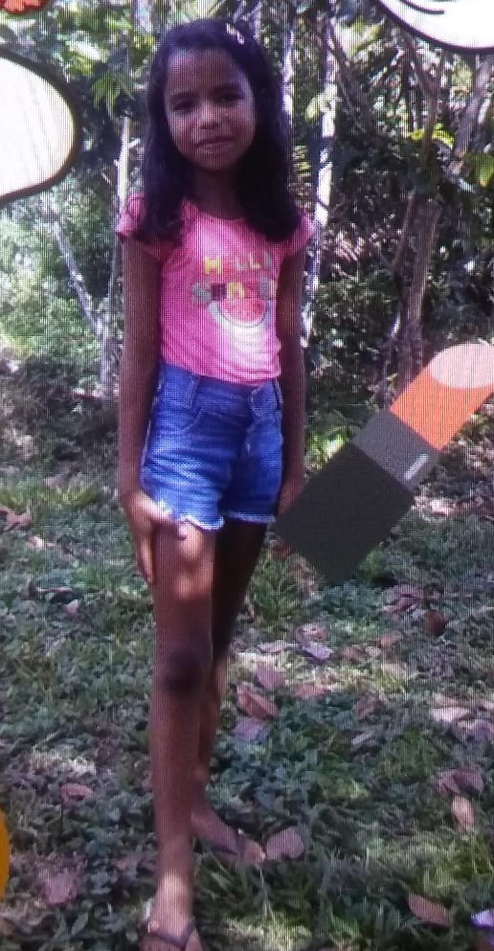 Menina de dez anos corre risco de ficar com sequelas — Foto: Arquivo pessoal