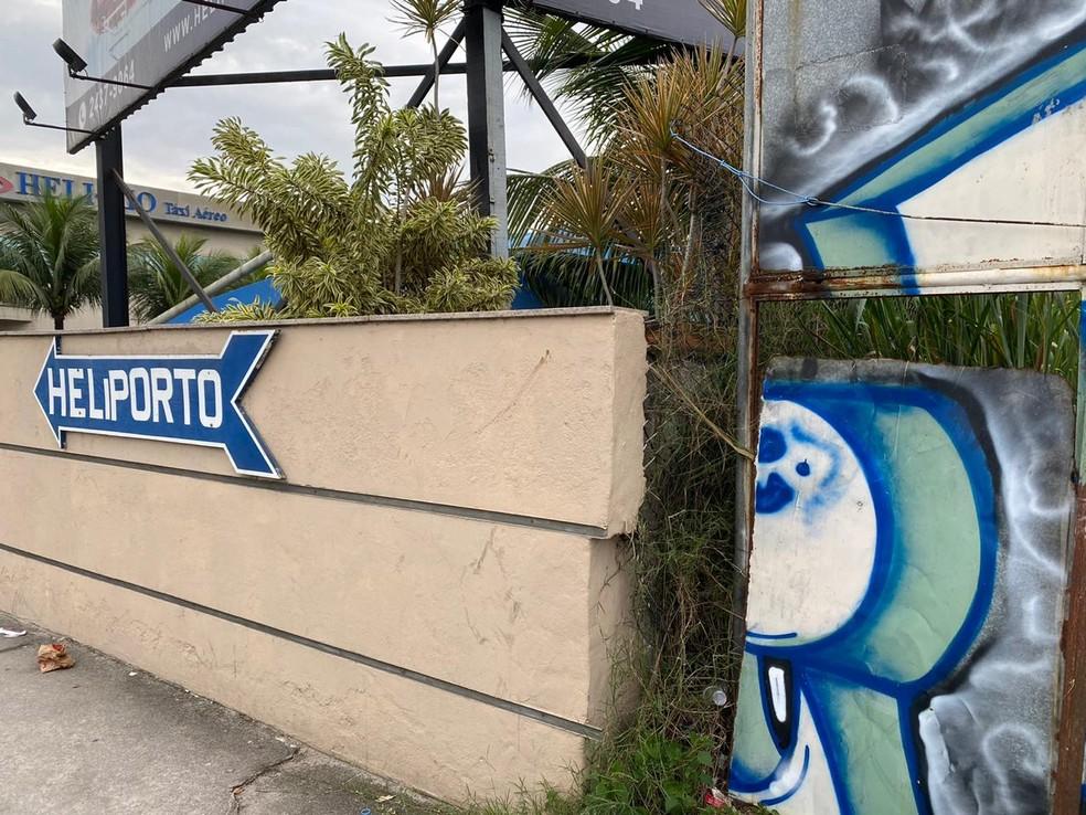 Heliporto onde Fernando Inácio foi morto — Foto: Leslie Leitão/TV Globo