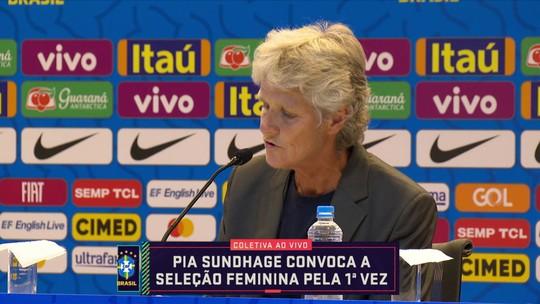 """Amanda Kestelman comenta chegada de nova técnica da Seleção Feminina de Futebol: """"Acho uma ótima"""""""
