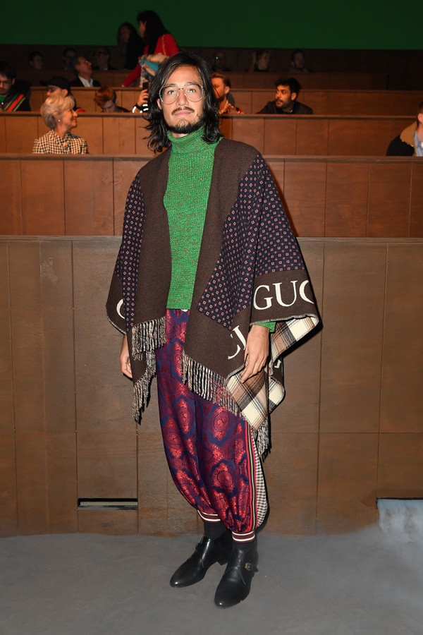 MILAN, ITALY - JANUARY 14: Tiago Iorc is seen on Gucci Front Row during Milan Meanswear Fashion Week Fall/Winter 2020/21 on January 14, 2020 in Milan, Italy. (Photo by Jacopo Raule/Getty Images for Gucci) (Foto: Getty Images for Gucci)