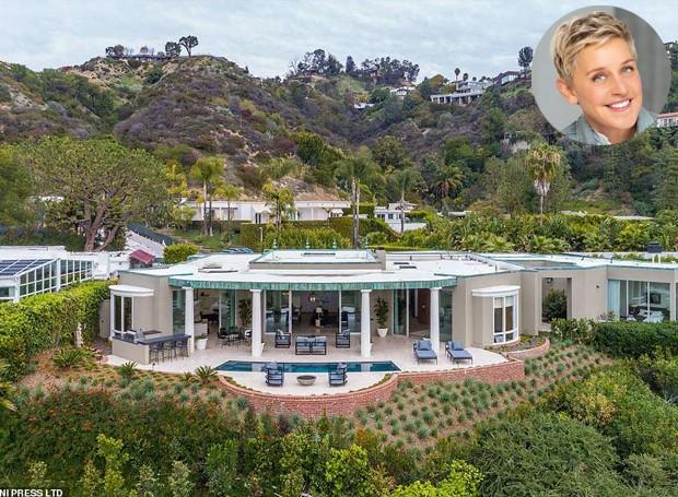 A mansão possui 473 metros quadrados e foi comprada pela apresentadora de televisão Ellen DeGeneres (Foto: MLS/ Reprodução)