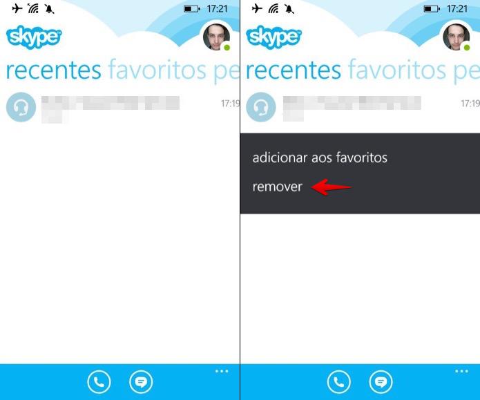 شرح كيفية حذف سجل محادثة سكايب من الهاتف الجوال بالصور