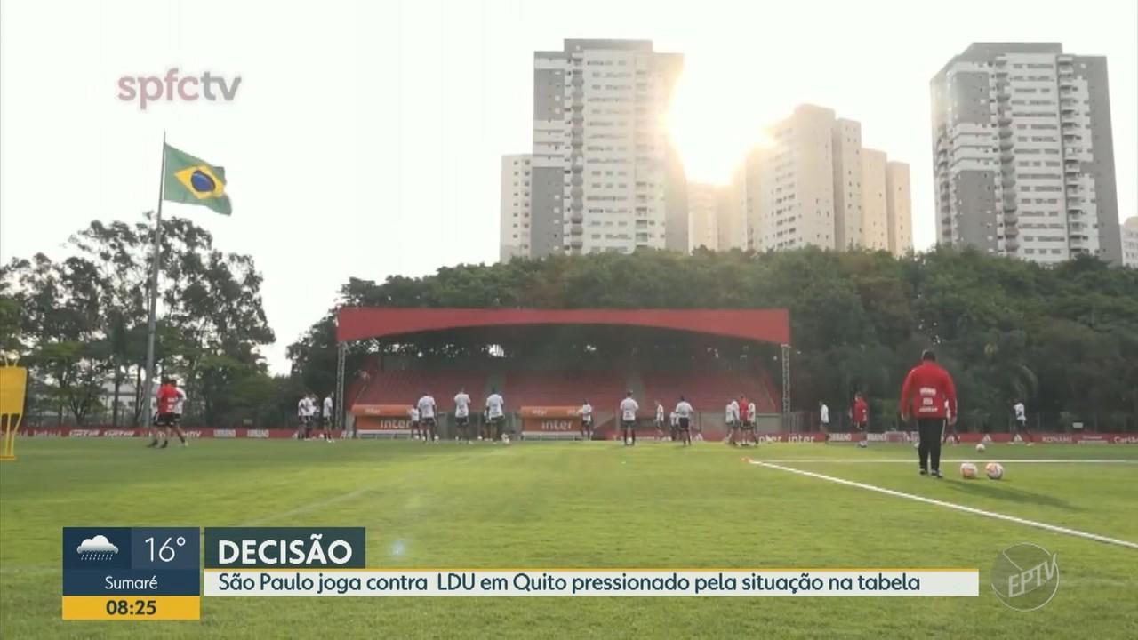 São Paulo joga contra o LDU pressionado pela situação na tabela