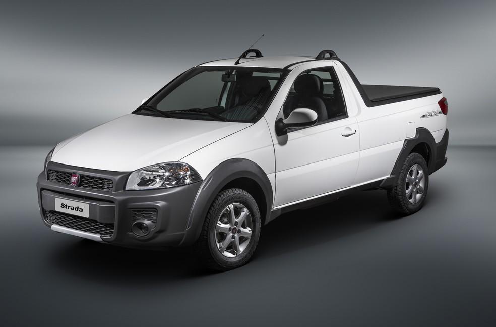 Fiat Strada ganha versão Freedom com cabine simples — Foto: Divulgação/Fiat