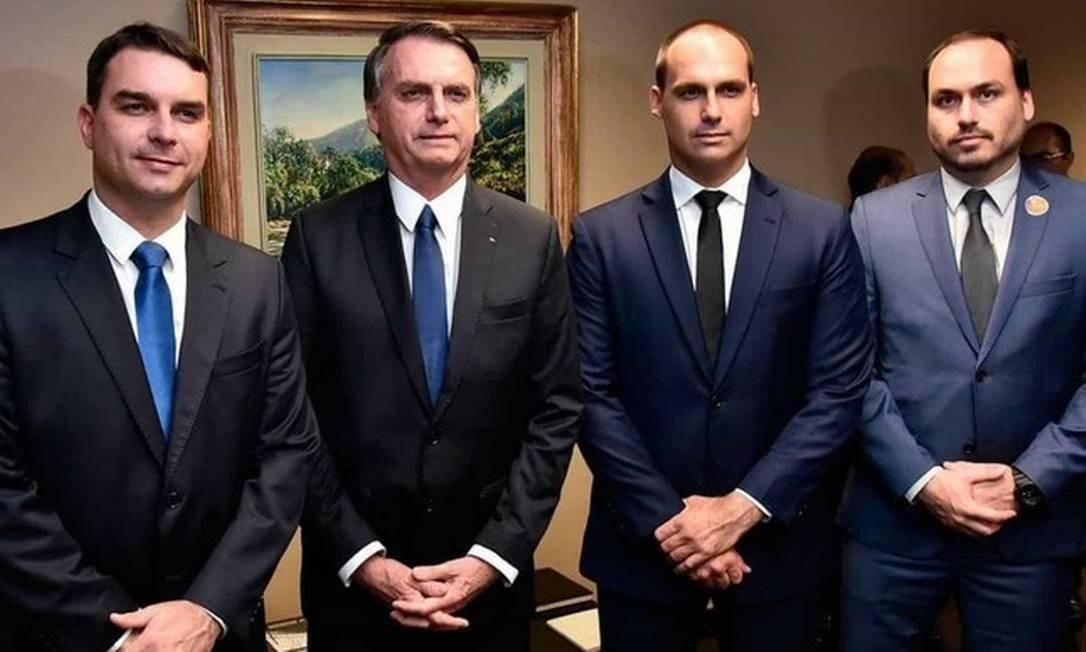 Flávio, Jair, Eduardo e Carlos Bolsonaro