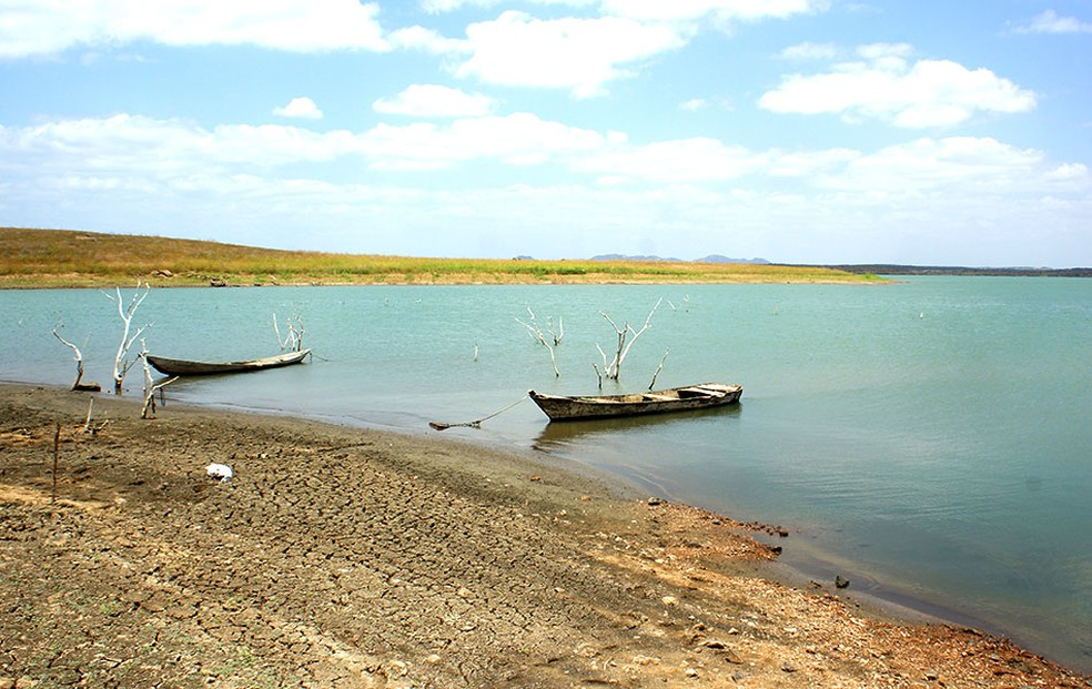 Barragem Engenheiro Armando Ribeiro Gonçalves, maior reservatório do RN, está com 25,12% da capacidade (arquivo) — Foto: Anderson Barbosa/G1