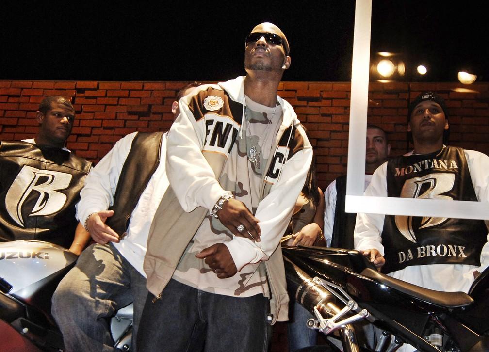 DMX, cujo nome verdadeiro era Earl Simmons, em foto de janeiro de 2006 — Foto: Louis Lanzano/AP/Arquivo