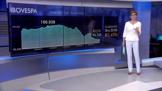 Ibovespa encerra em baixa semana que teve recorde histórico