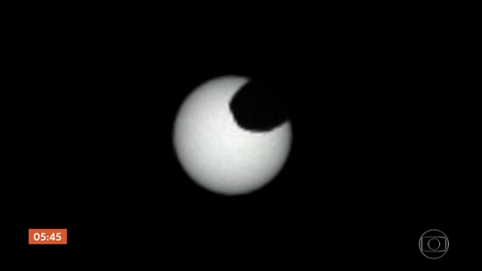 Robô da Nasa flagra eclipses solares em Marte