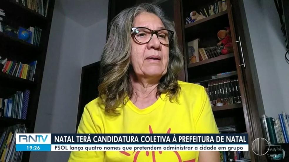 PSOL oficializa candidatura coletiva à Prefeitura de Natal — Foto: Reprodução/Inter TV Cabugi