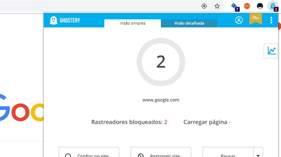 Ghostery é um bloqueador de anúncios inteligente para o navegador — Foto: Reprodução/Paulo Alves