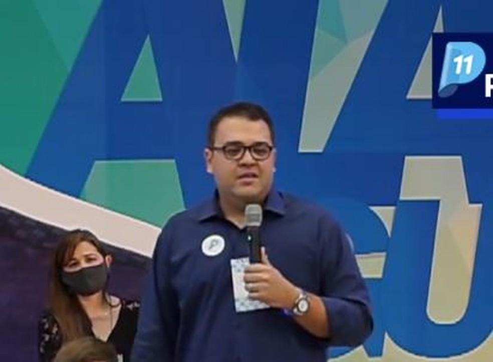 O Partido Progressista (PP) oficializou no dia 7 de setembro a candidatura de Alan Guedes à prefeitura de Dourados.   Foto: Redes Sociais/Reprodução