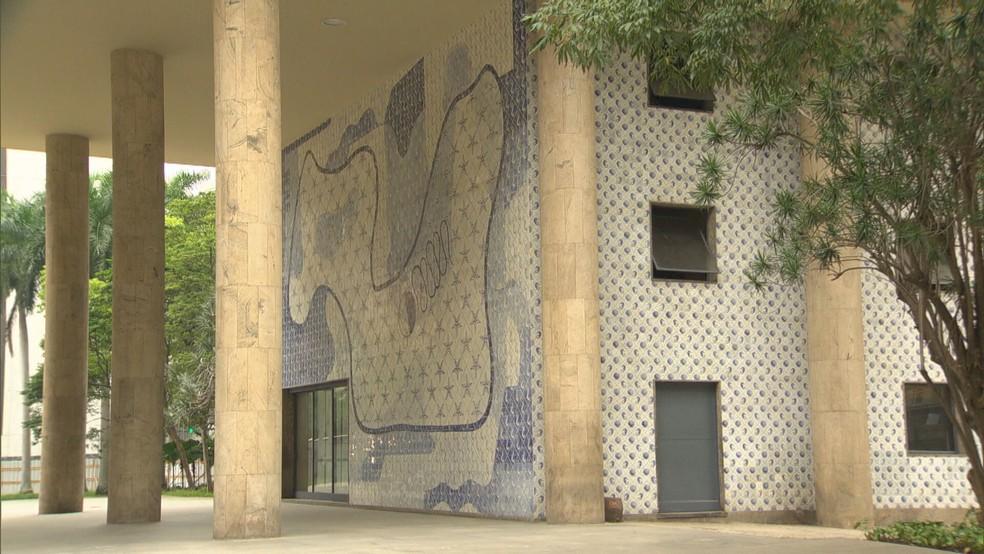 Fachada do Palácio Gustavo Capanema, no Centro do Rio — Foto: Reprodução/TV Globo