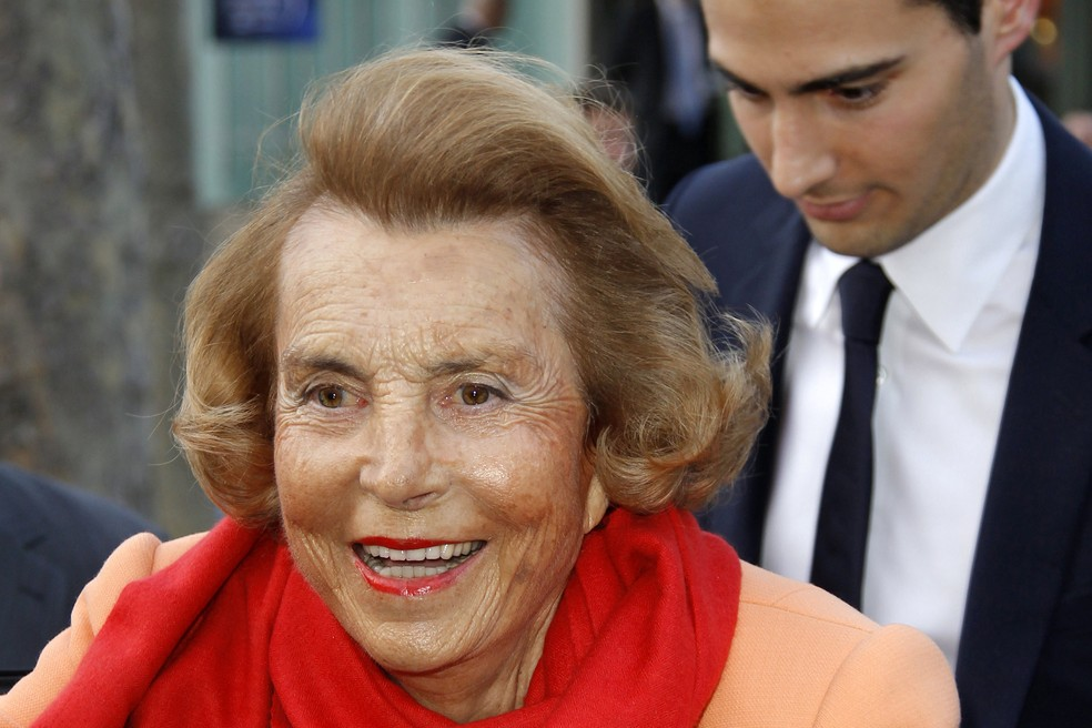 Liliane Bettencourt herdou o grupo L'Oreal do pai, em 1957 (Foto: REUTERS/Benoit Tessier/File Photo)