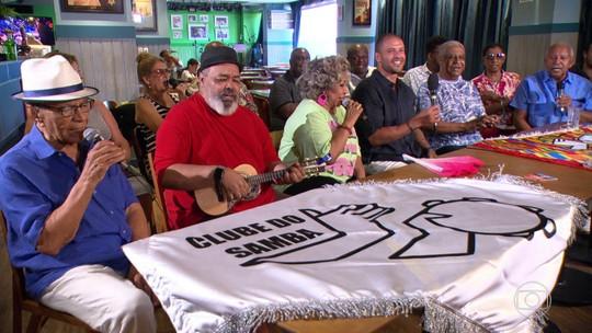 Clube do Samba comemora 40 anos e promove roda de samba exclusiva para o Fantástico