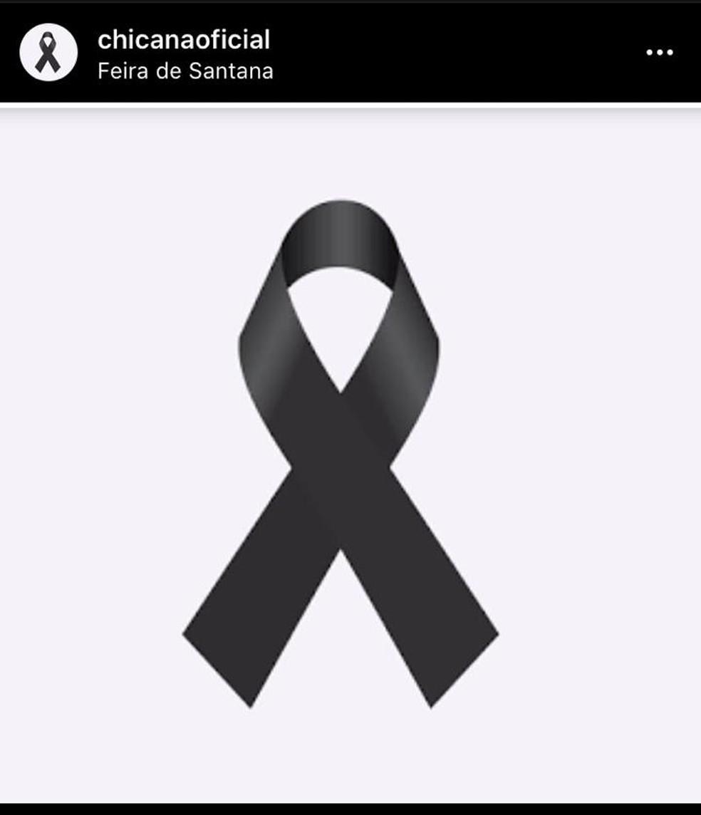 No Instagram, grupo Chicana postou símbolo de luto — Foto: Reprodução/ Redes Sociais