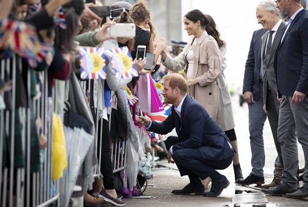 Príncipe Harry e Meghan Markle em Auckland (Foto: Getty Images)