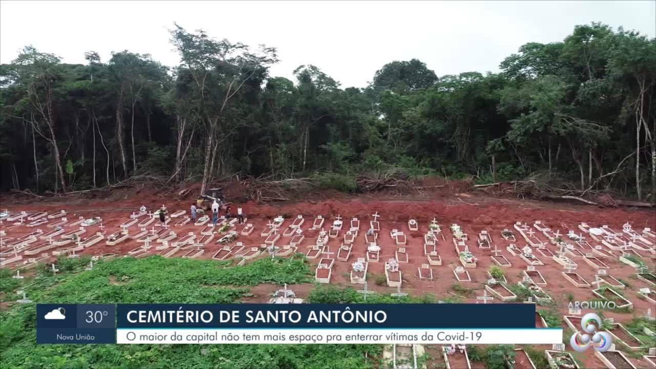 Cemitério de Santo Antônio, não tem mais espaço para enterrar vitimas da Covid-19