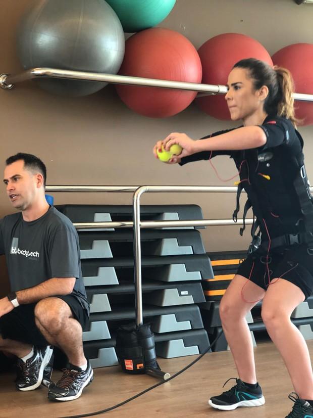 Wanessa Camargo treina com Marcio Lui (Foto: Divulgação)