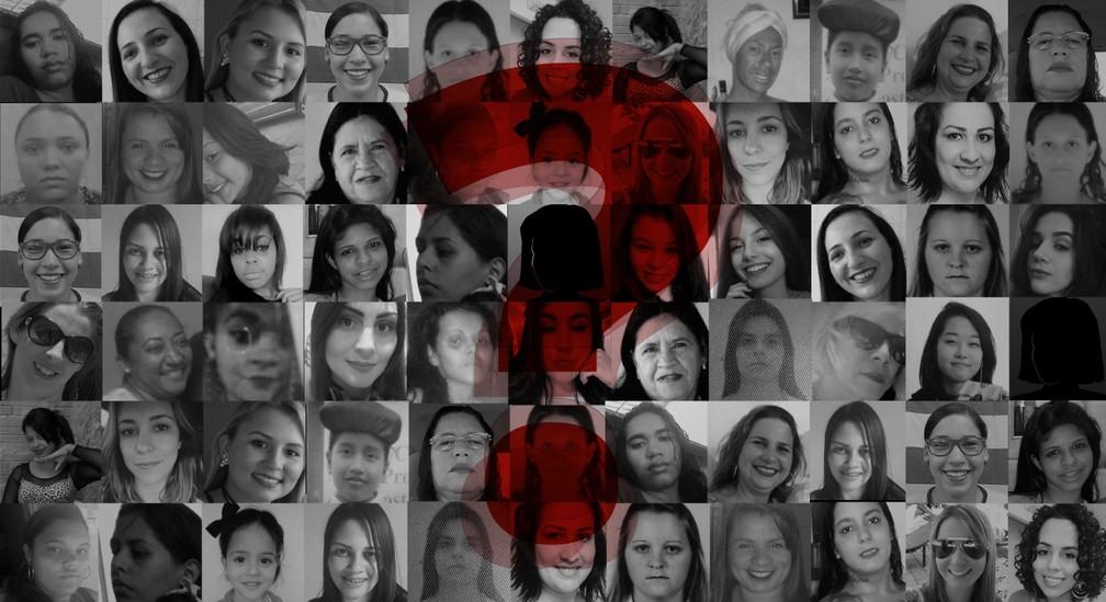 Mulheres mortas de forma violenta no país (Foto:  G1)