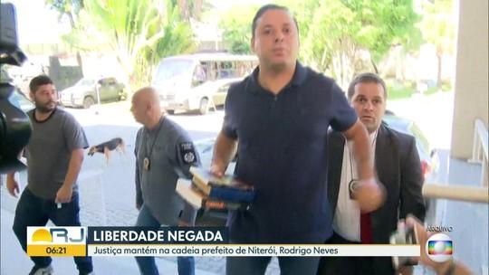 A justiça negou o pedido de habeas corpus do prefeito de Niterói