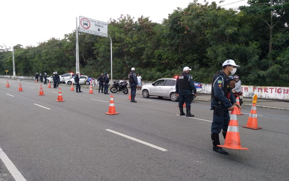 Fiscalização da CPTran em Aracaju — Foto: CPTran/Divulgação