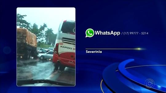 Motorista morre e outras três pessoas ficam feridas em acidente na rodovia de Severínia