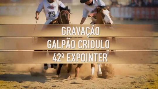 'Galpão Crioulo' leva atrações para o palco da Expointer, em Esteio, no dia 25 de agosto