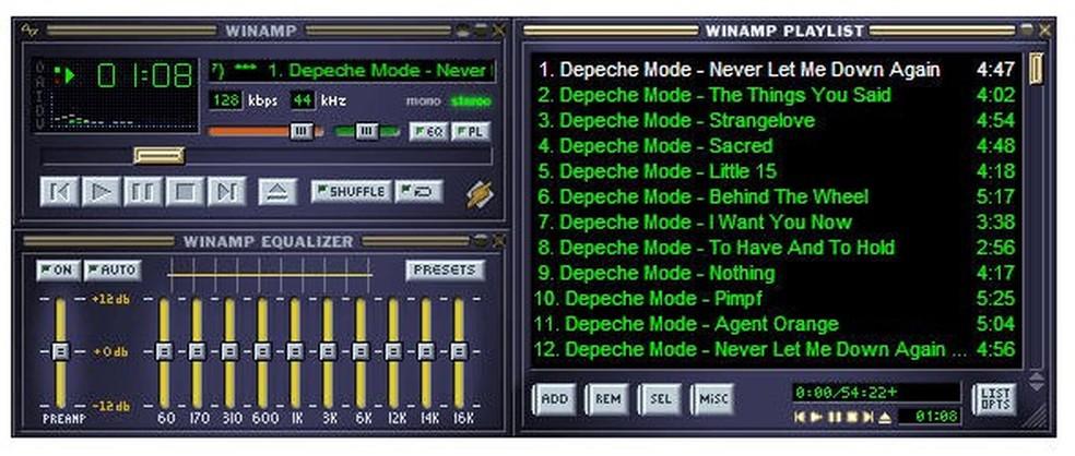 Winamp permitia criar playlists de forma fácil (Foto: Divulgação/Winamp)