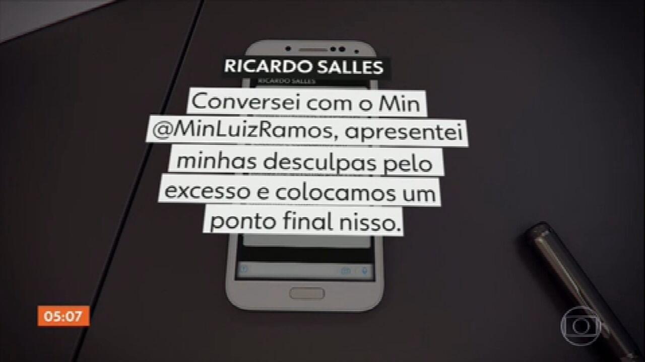 Ministro do Meio Ambiente diz em rede social que se desculpou com Luiz Eduardo Ramos