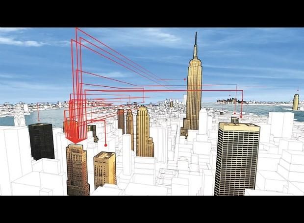 The Living Cities - projeto que prevê a comunicação entre edifícios metropolitanos (Foto: Amy Barkow/ Reprodução)