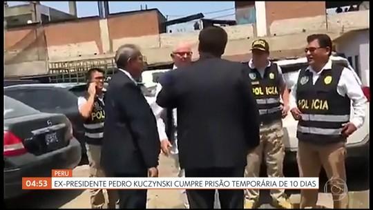 Ex-presidente do Peru cumpre prisão temporária de 10 dias