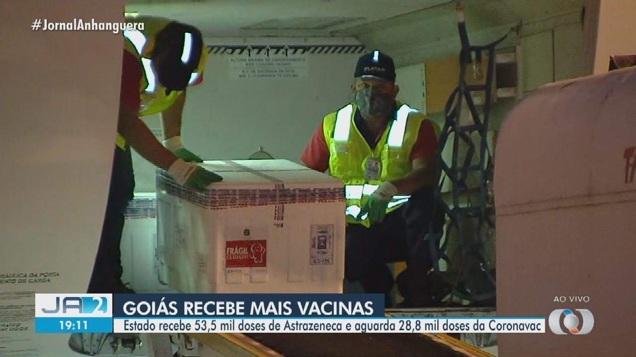 Novas doses da vacina contra Covid-19 chegam a Goiás