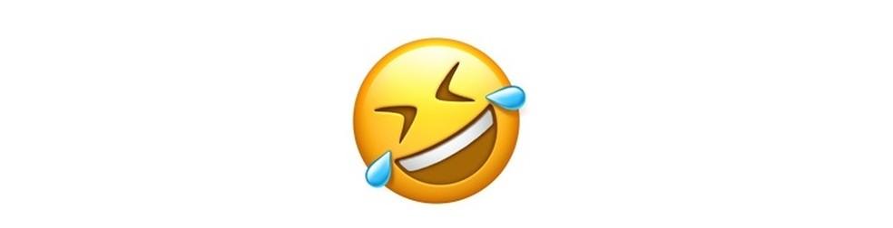 Emji para momentos intensos de risada  — Foto: Resprodução/TechTudo