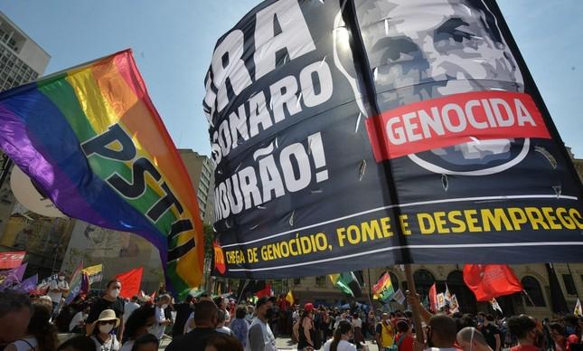 Ato contra Bolsonaro em São Paulo