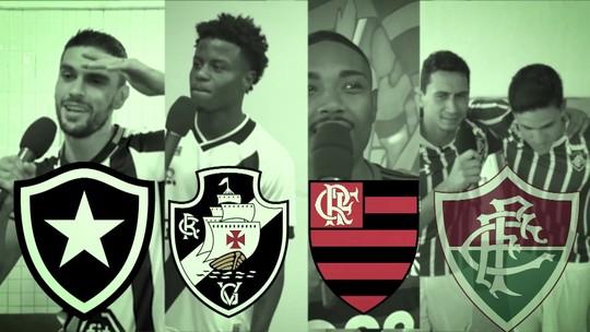 Futeokê: jogadores de Botafogo, Flamengo, Fluminense e Vasco colocam talento musical à prova