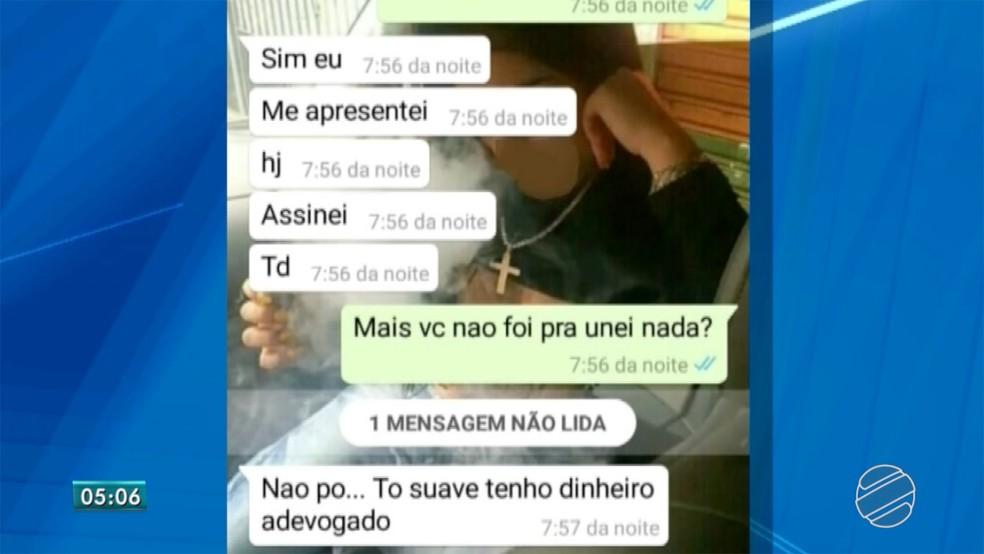 Polícia teve acesso a prints de conversas em que adolescentes falam sobre tortura a menina de 16 anos em MS â?? Foto: Reprodução/TV Morena