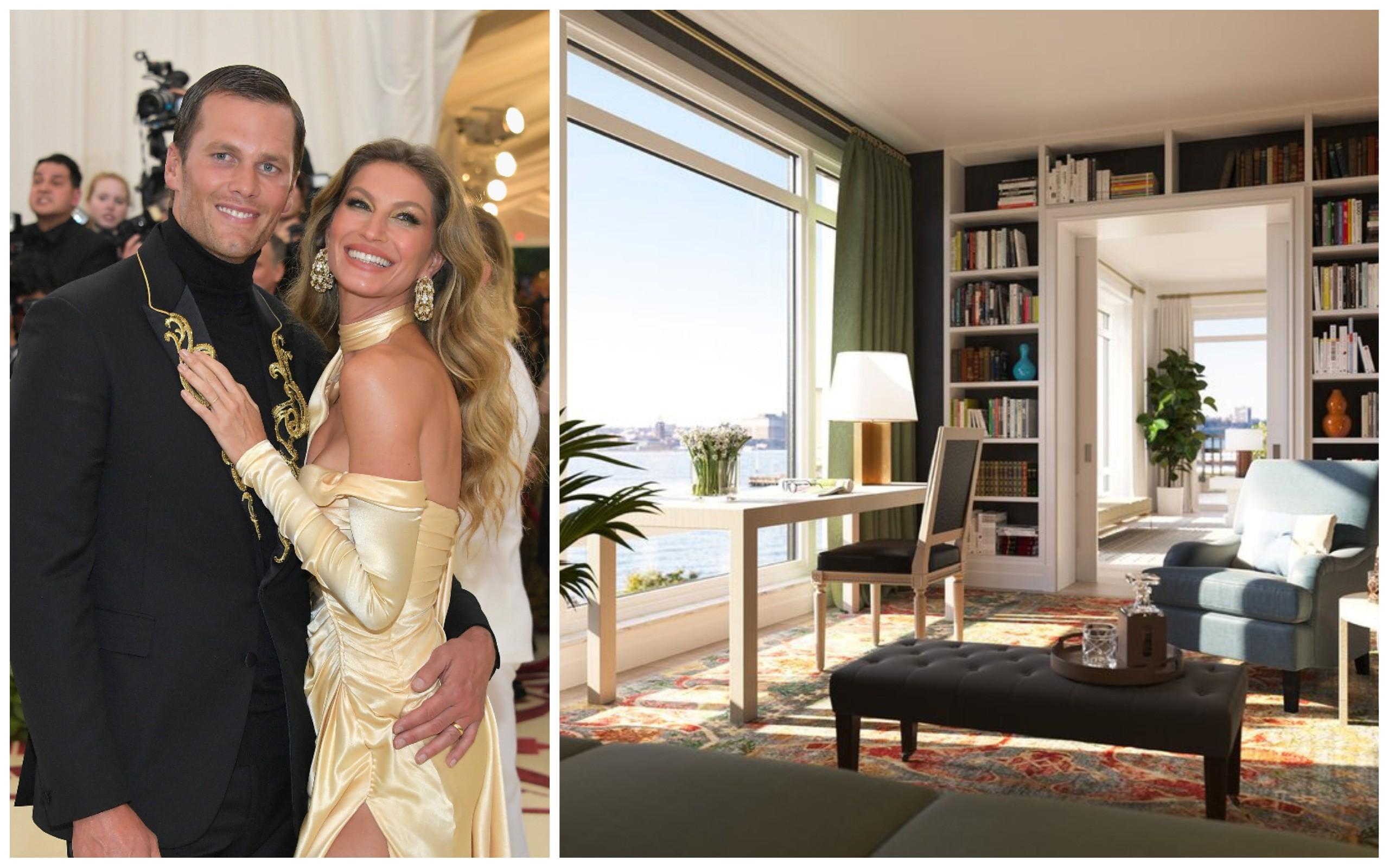 Tom Brady e Gisele Bundchen (Foto: Getty Images / Reprodução (Imobiliária))