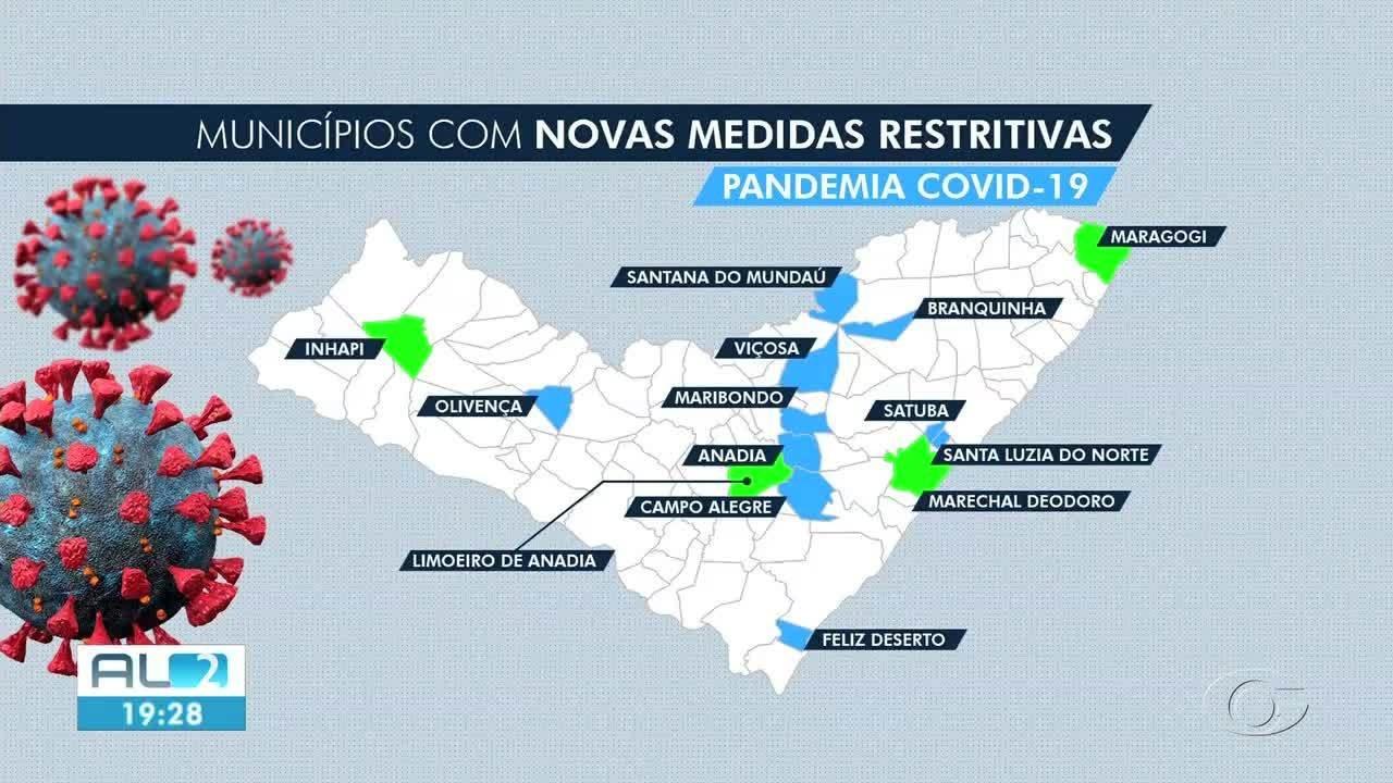 Mais quatro municípios de Alagoas anunciam medidas sanitárias por causa da pandemia