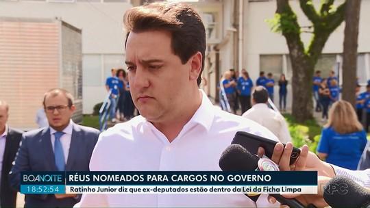 Ratinho Junior diz que ex-deputados que são réus estão dentro da Lei da Ficha Limpa
