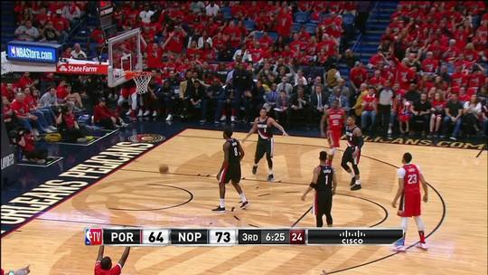 Melhores momentos: New Orleans Pelicans 131 x 123 Portland Trail Blazers pela NBA