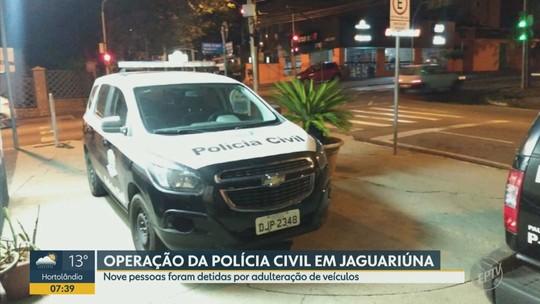 Operação da Polícia Civil desarticula quadrilha de receptação e clonagem de veículos em Jaguariúna; 4 presos