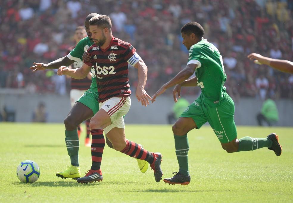 Diego vinha sendo titular do time alternativo do Fla nos últimos jogos — Foto: Alexandre Vidal / Flamengo